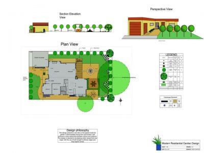 Modern Residential Garden<br>Landscape Design